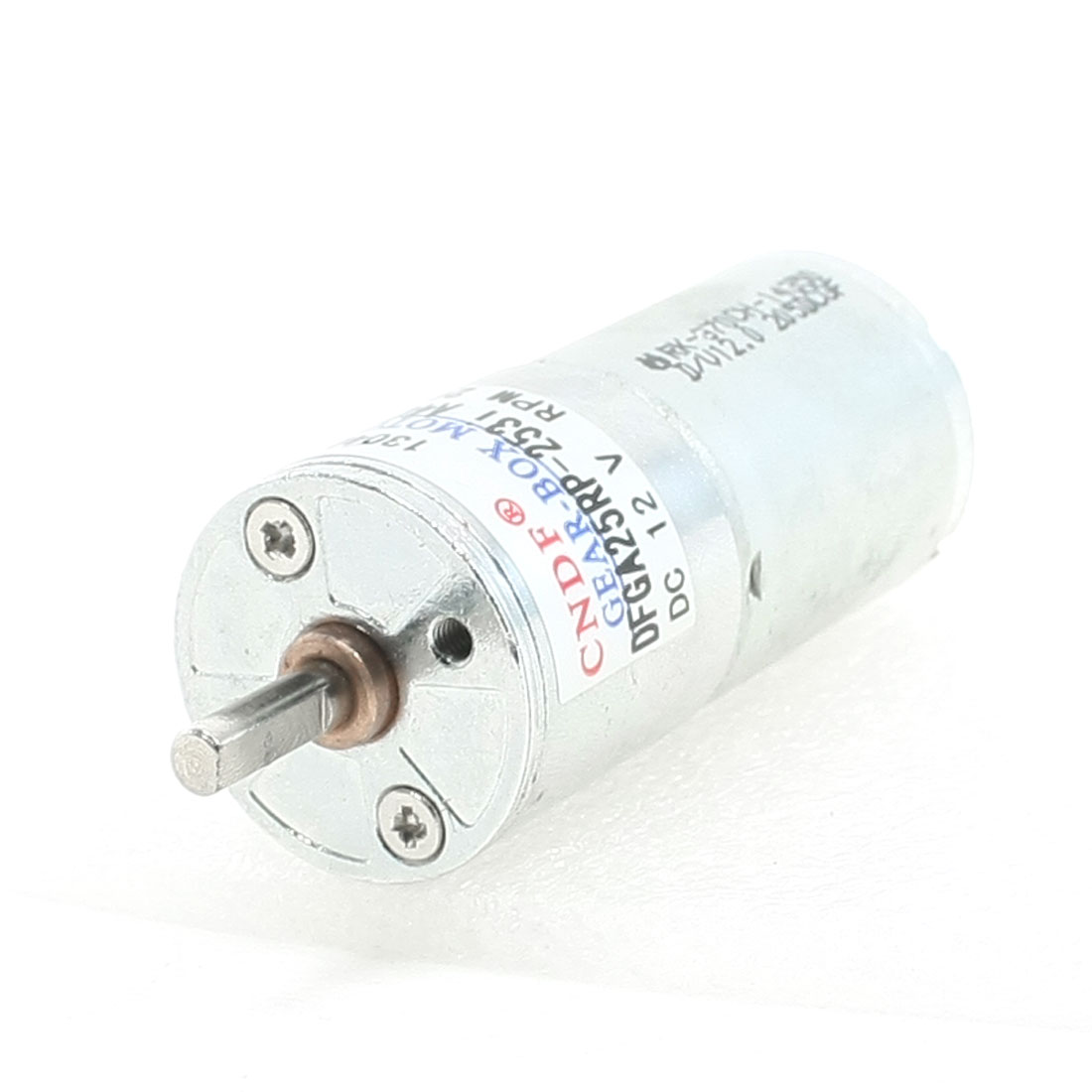 DC 12V 20RPM Speed Reducing Power Geared Motor 4mm x 11mm