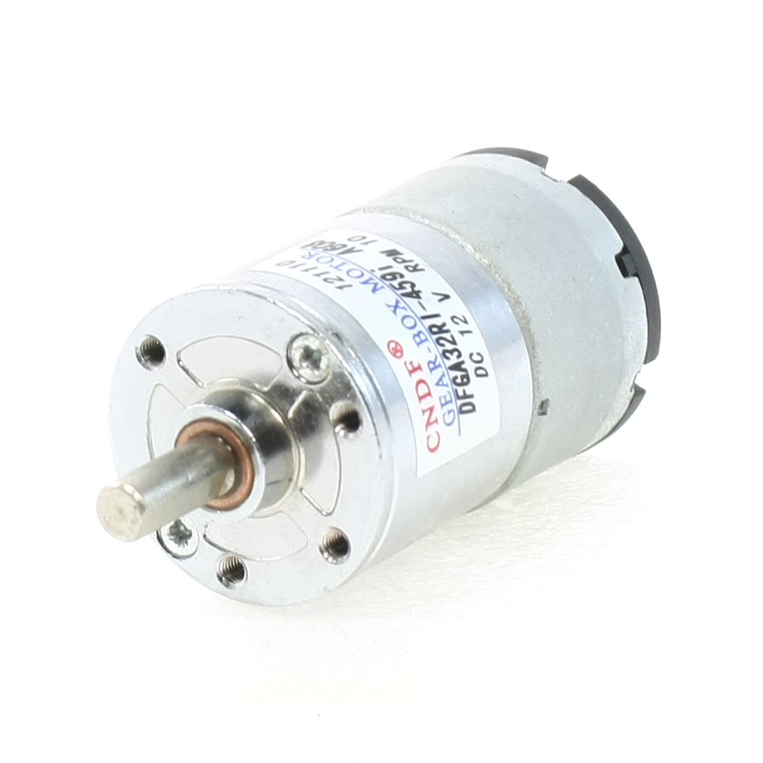DC 12V 10RPM Speed Reducing Power Geared Motor 6mm x 15mm
