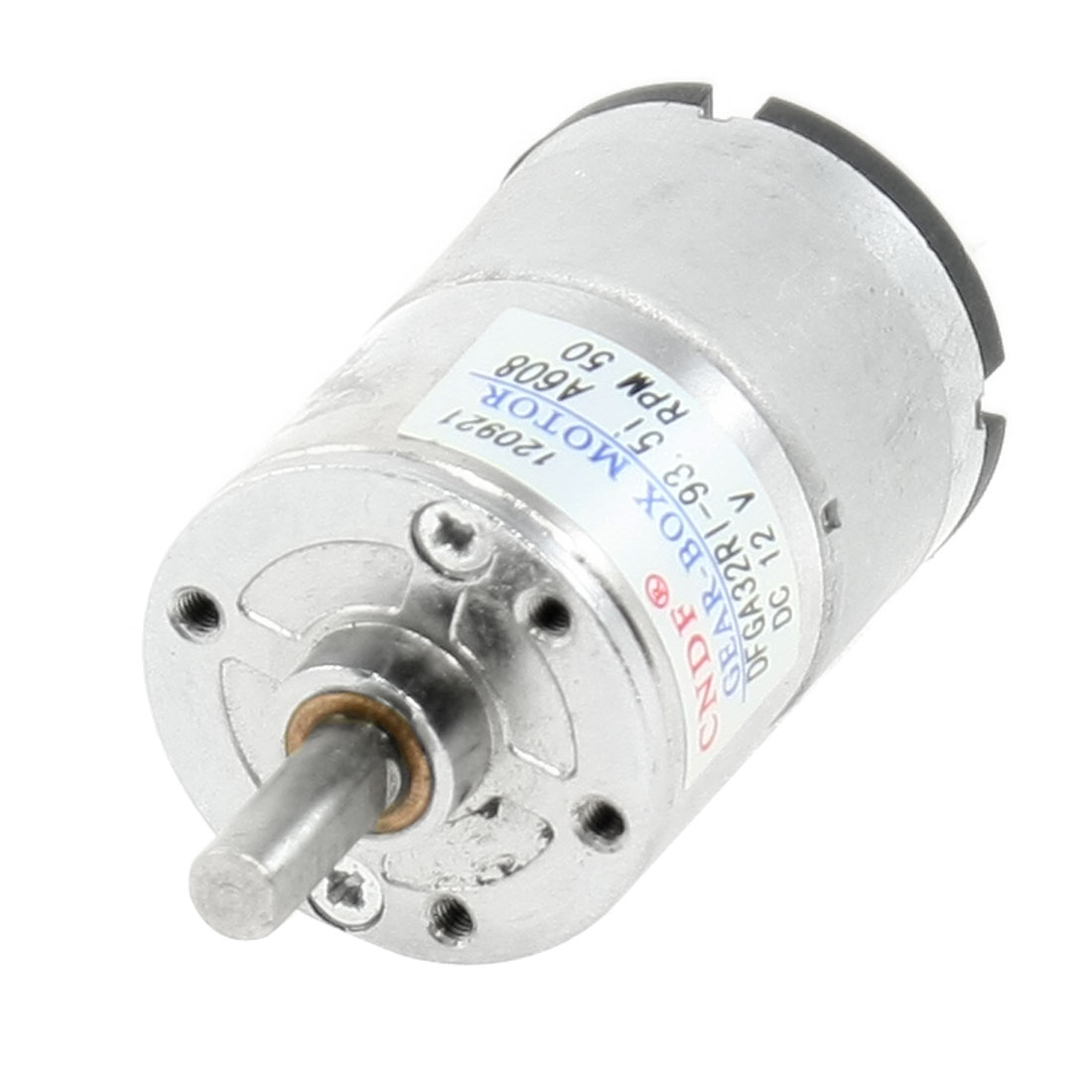 50RPM 12VDC 2P 6mm Shaft Diameter Electric Geared Box Motor