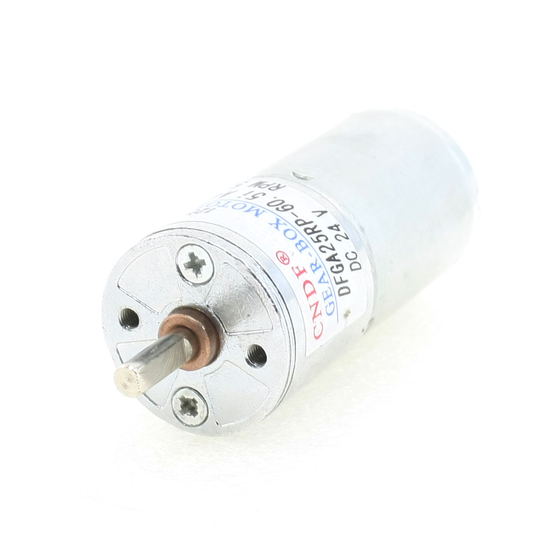 25mm Body Dia Two Terminals Auto Shutter Gear Motor 24VDC 50RPM