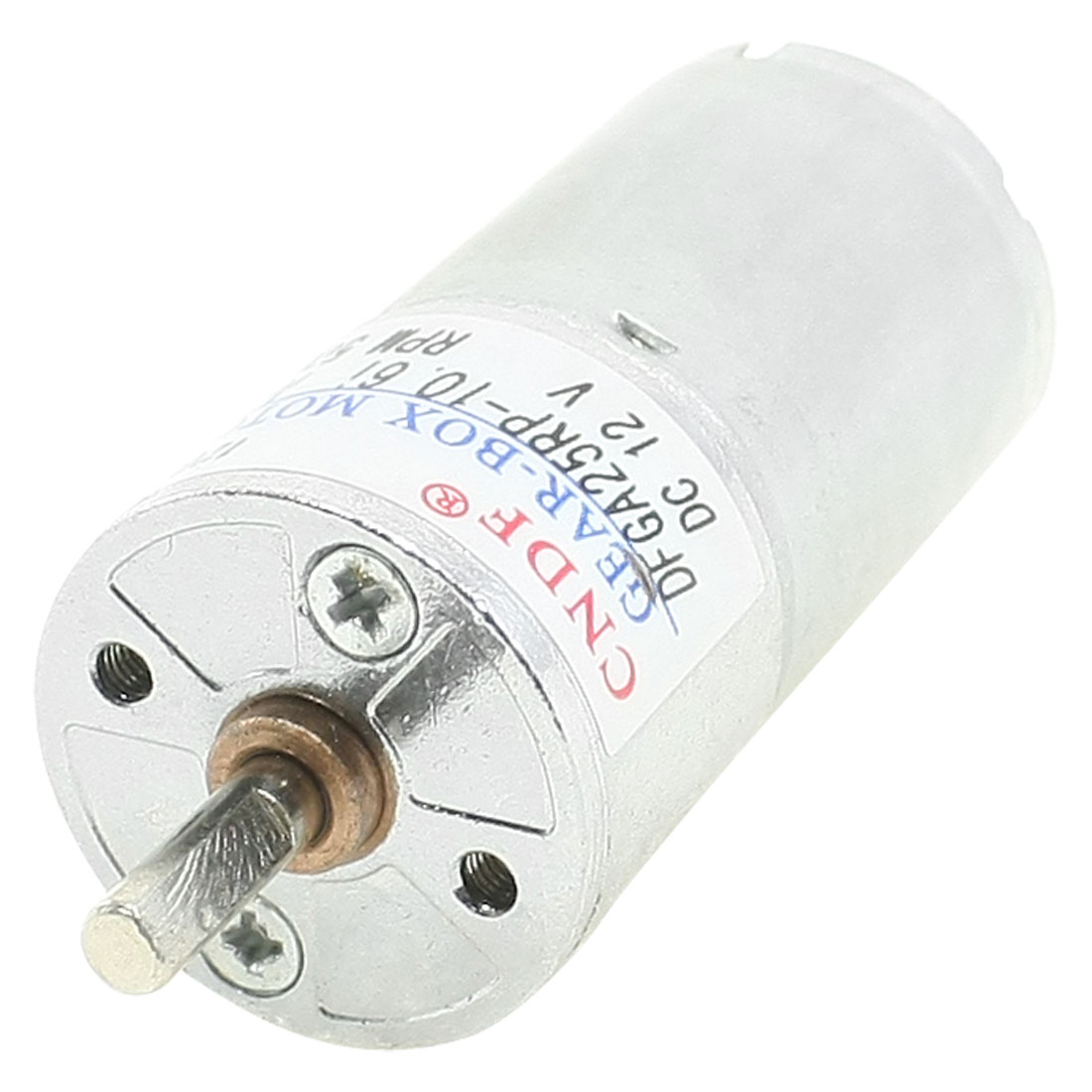 4mmx11mm Shaft 25mm Dia Cylinder Shaped Gear Motor 500 RPM 12V DC