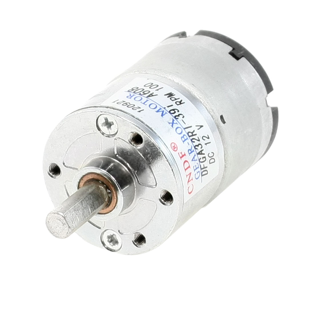 100RPM 12VDC 2P 6mm Shaft Diameter Electric Geared Box Motor