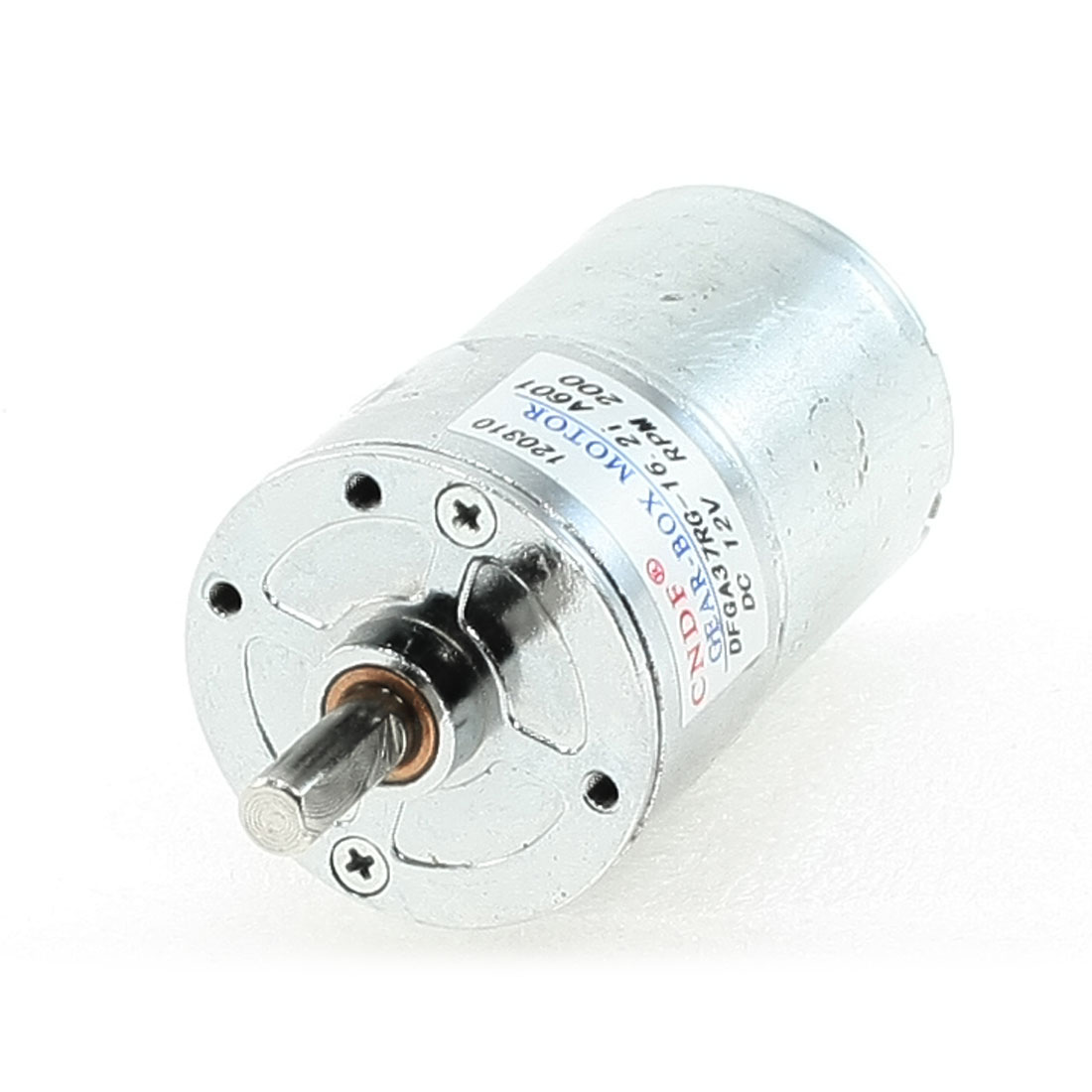 12VDC 200RPM Output Speed 37mm Body Diameter Geare Box Motor
