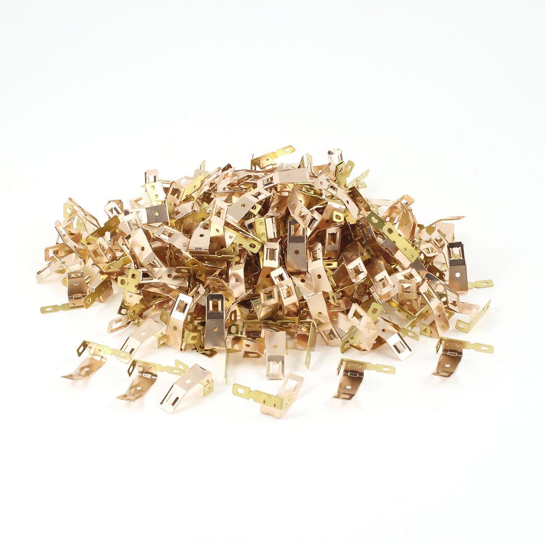 500 Pcs Beryllium Copper Gold Tone Carbon Brush Holder for 775 Motor