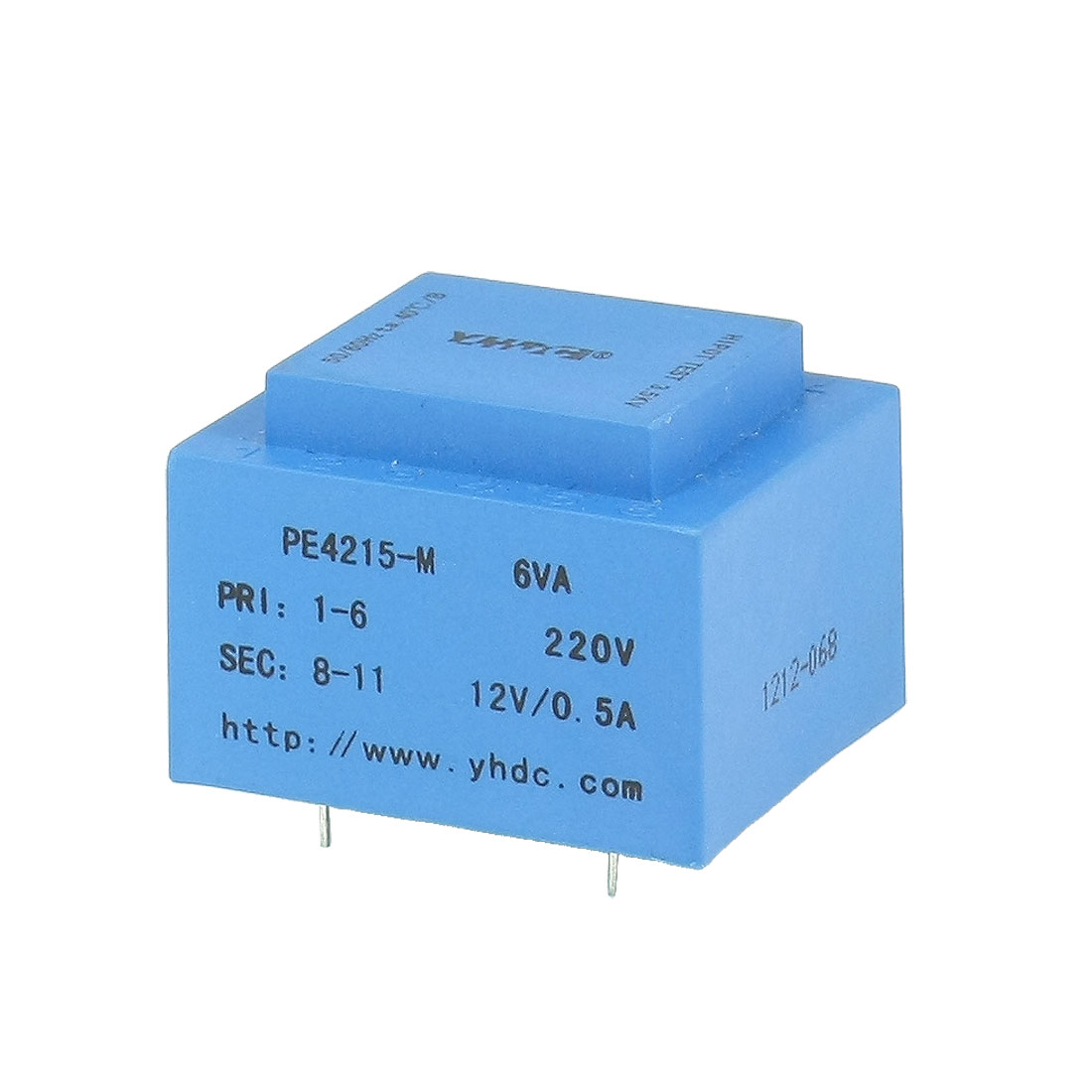 6VA 50/60 Hz 4 Pins Safety Insulated Encapsulated Transformer