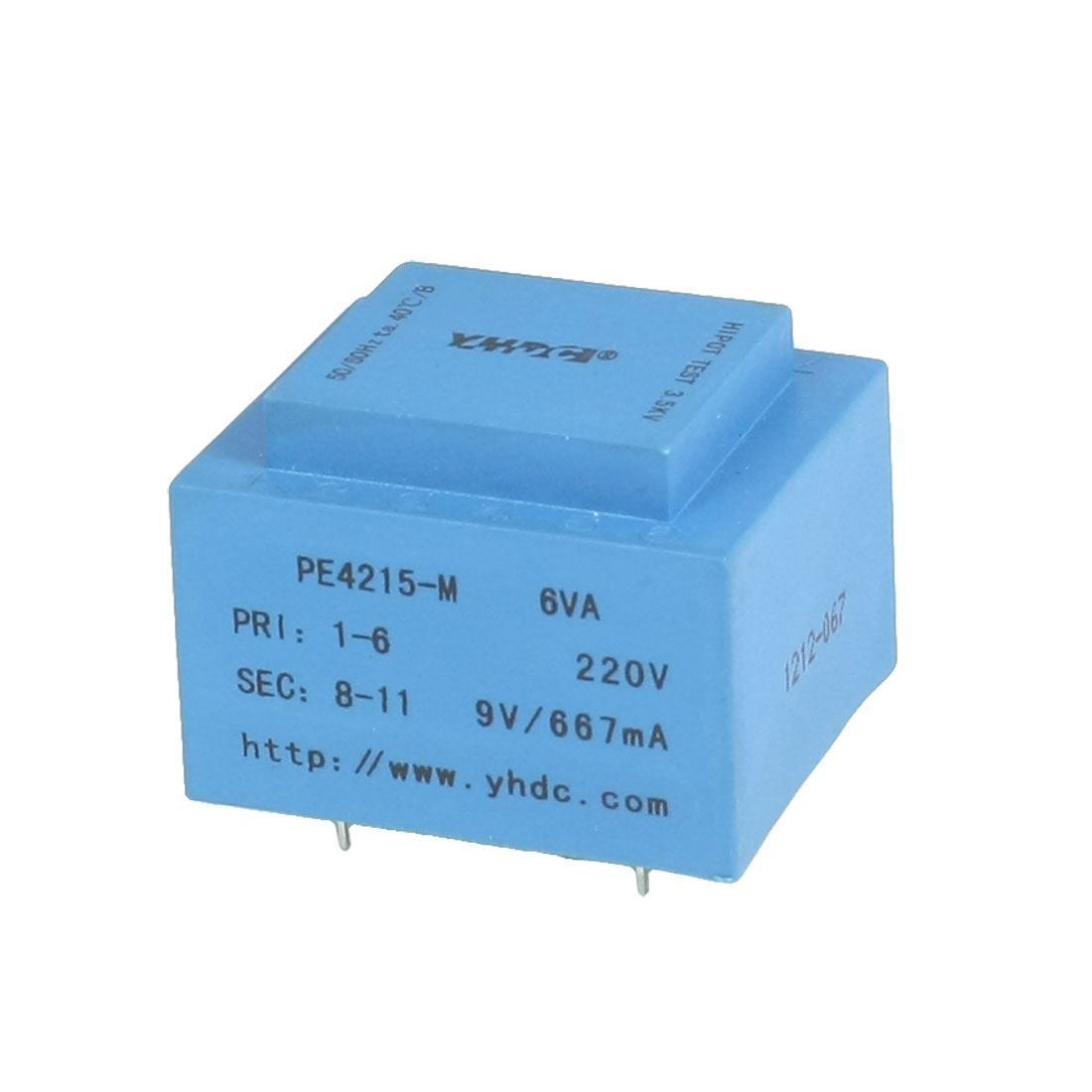 PE4215-M 6VA 50/60 Hz 9V Output Plug-in Encapsulated Transformer