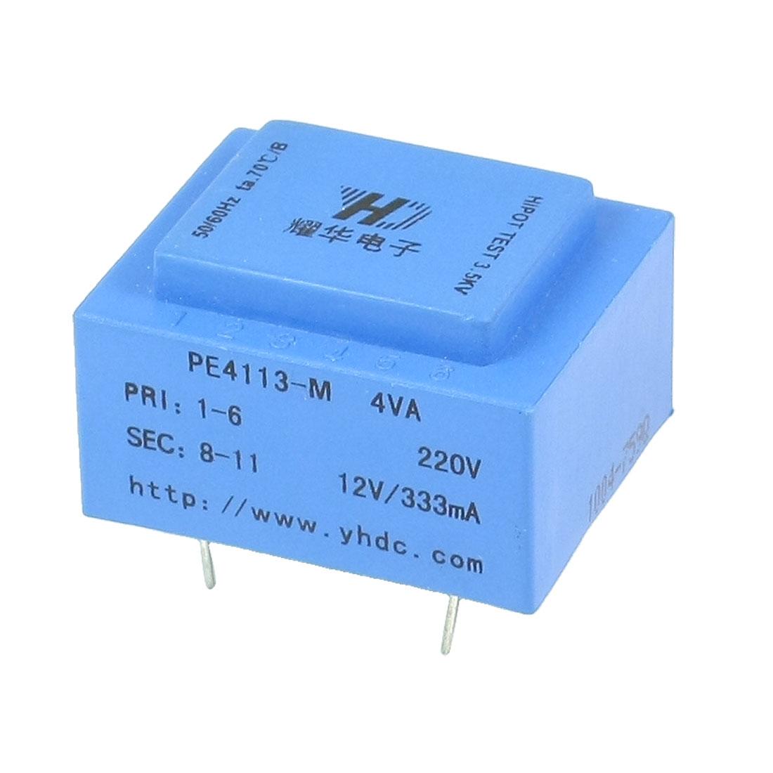 PE4113-M 4VA 50/60 Hz 12V 333mA Output Mains Encapsulated Transformer