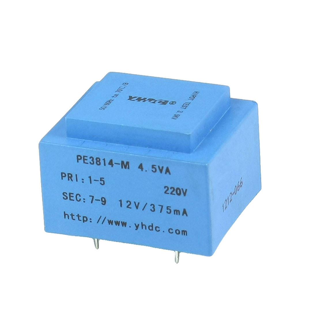 4.5VA 50/60 Hz 220V Input 12V Output 4 Pins Encapsulated Transformer