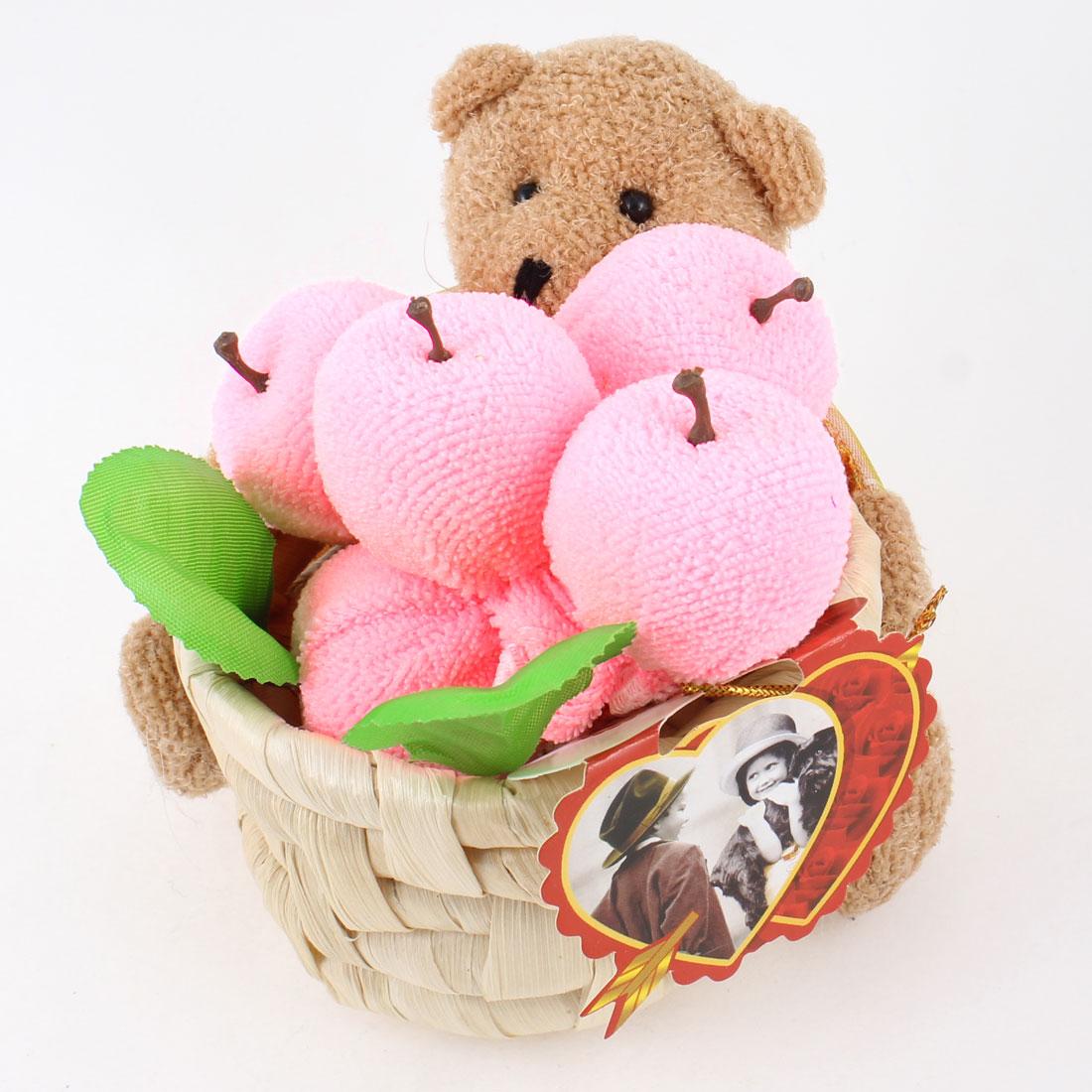 Wedding Party Ornament Colors Plaid Print Bear Basket Apple Towel Craft