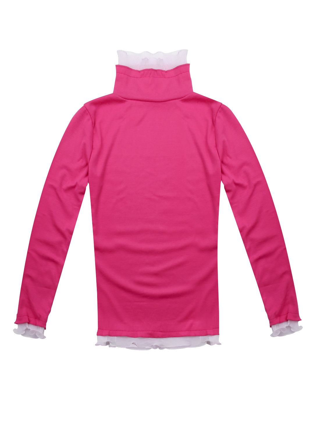 XS Fuchsia Long Sleeves Pullover Casual Tunic Shirt for Ladies