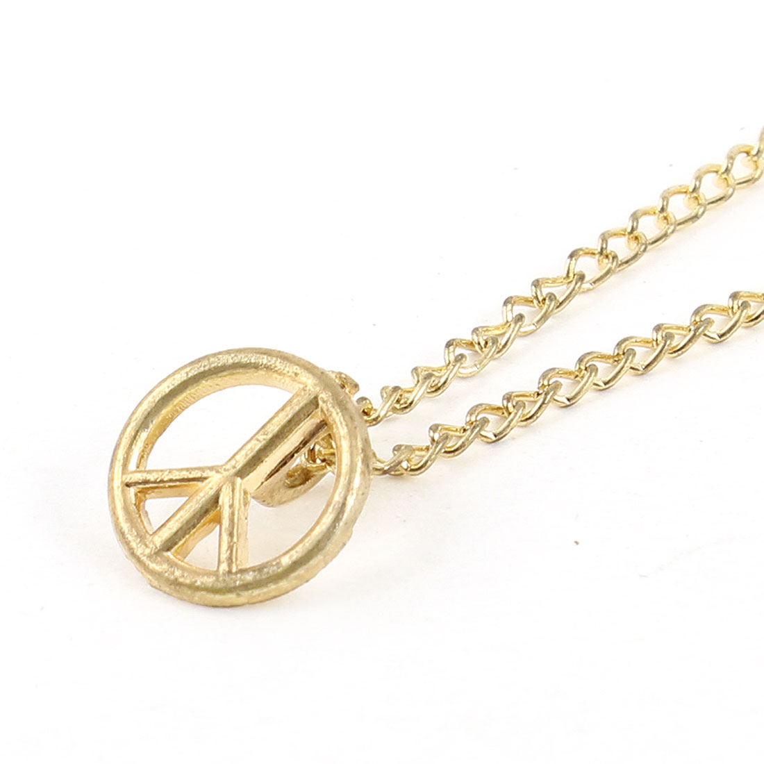 Peace Symbol Pendant Lobster Closure Gold Plated Necklace Choker for Ladies