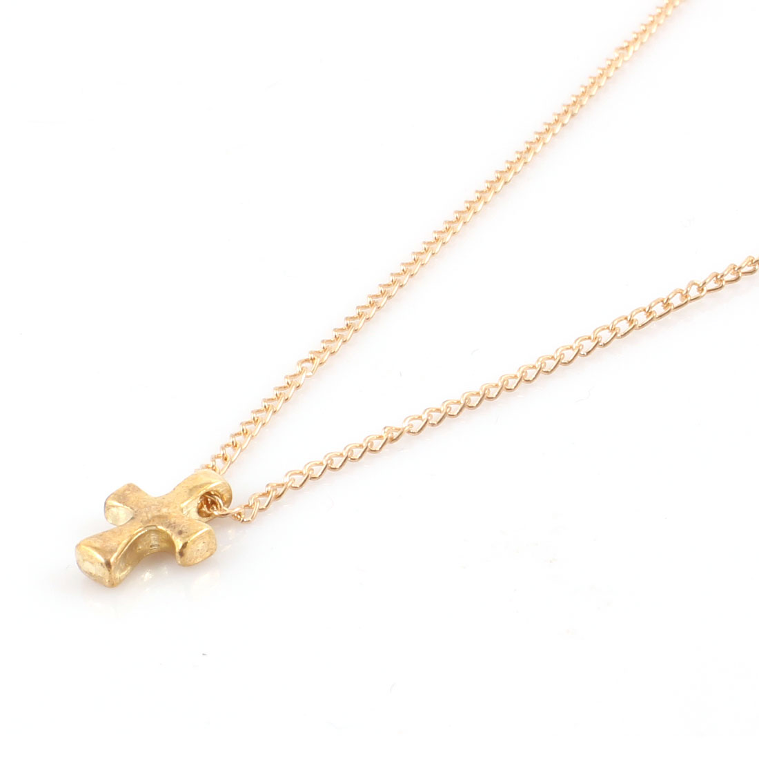 Cross Shape Lobster Closure Bling Gold Plated Necklace Choker for Ladies