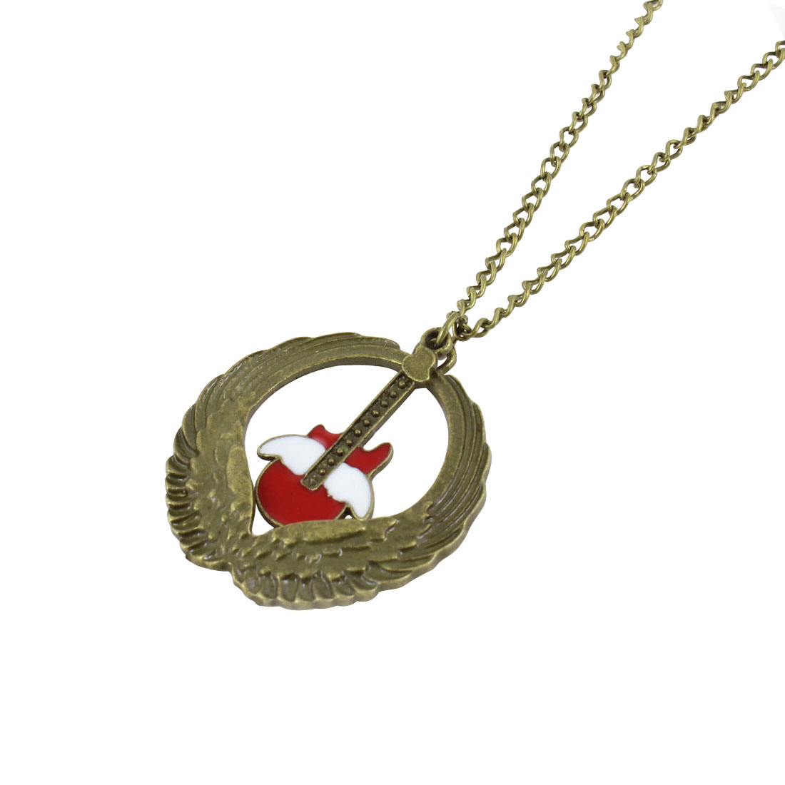 Lobster Closure Round Pendant Bronze Tone Necklace for Women Girls