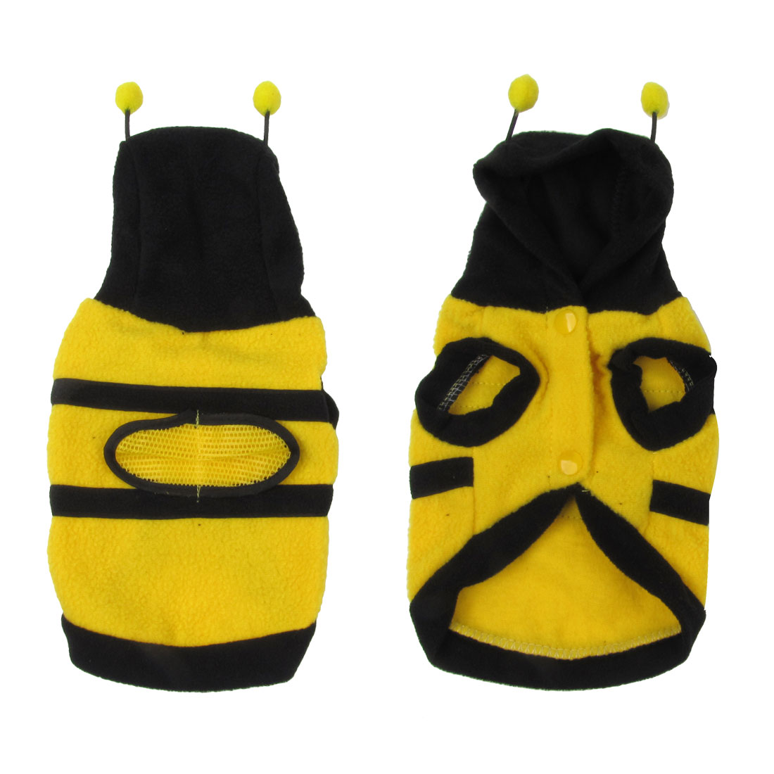 Warm Plush Bee Type Hoodie Pet Dog Cat Puppy Coat Sweater Outerwear Size S