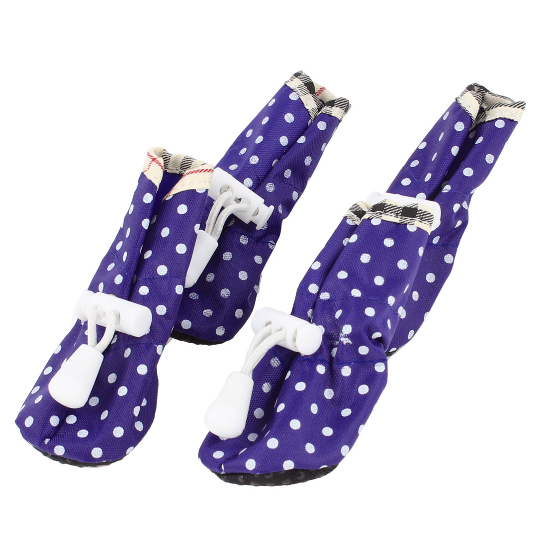 XXS Size 1 Spring Pet Dot Print Pet Dog Drawstring Boots Shoes 4 Pcs Blue