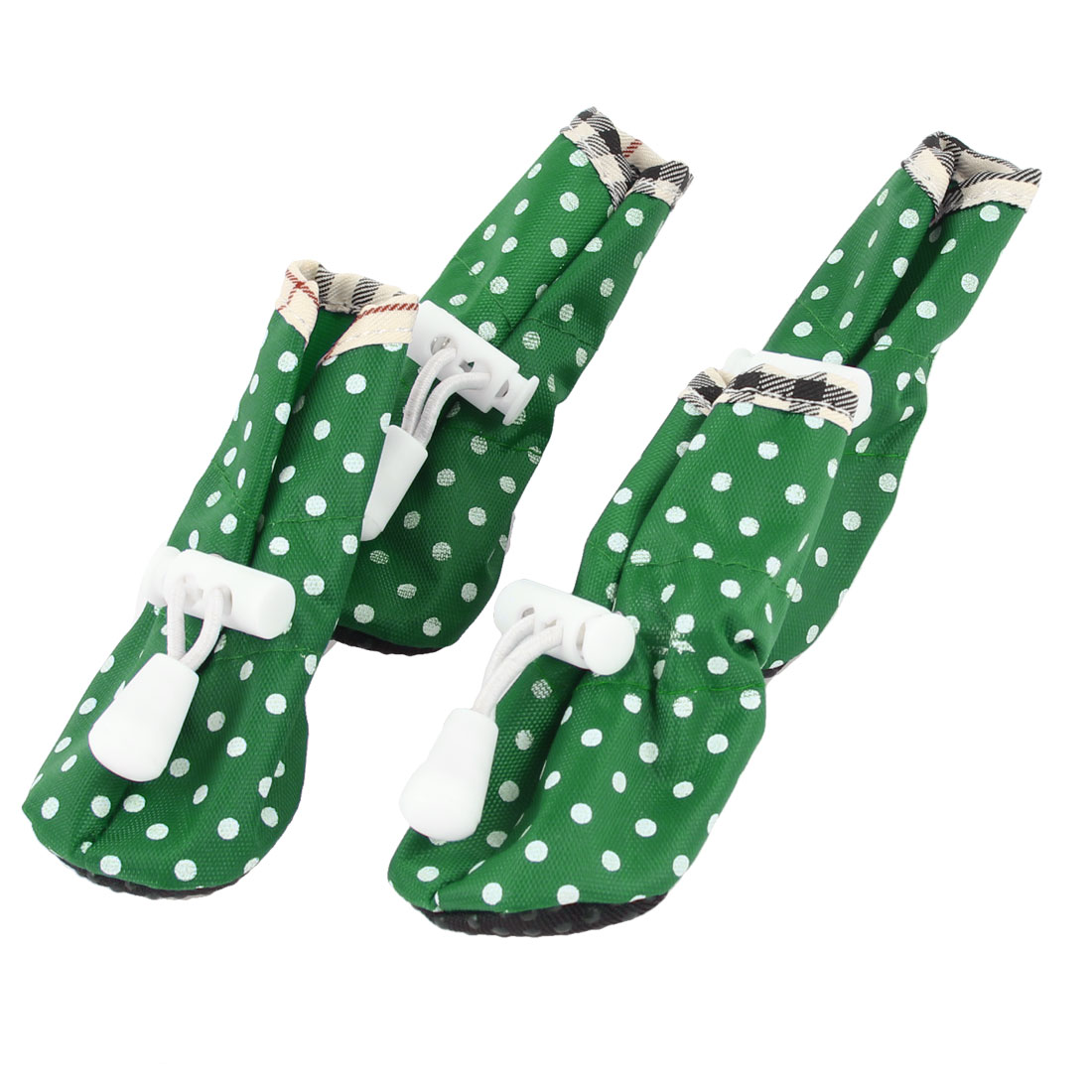 XS Size 3 Spring Pet Dot Print Pet Dog Drawstring Boots Shoes 4 Pcs Green