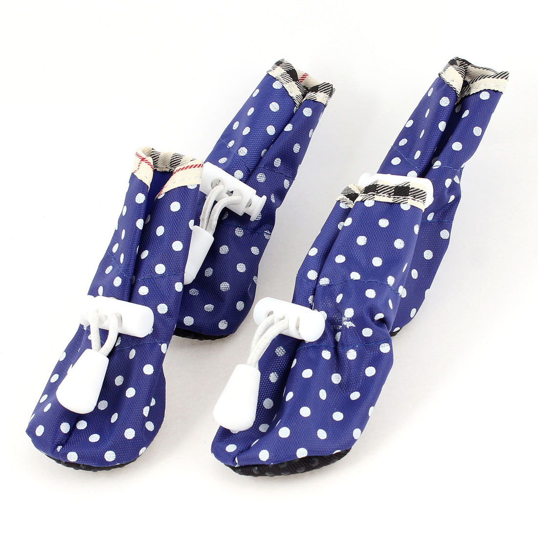 4 Pcs Autumn Nonslip Rubber Sole Pet Puppy Boots Shoes XS Size 3 Blue
