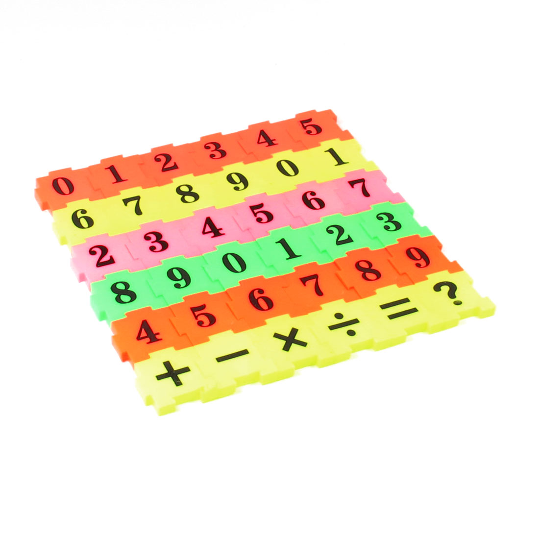 36 in 1 Multicolor Plastic Digital Intelligence Jigsaw Puzzle Set Toy for