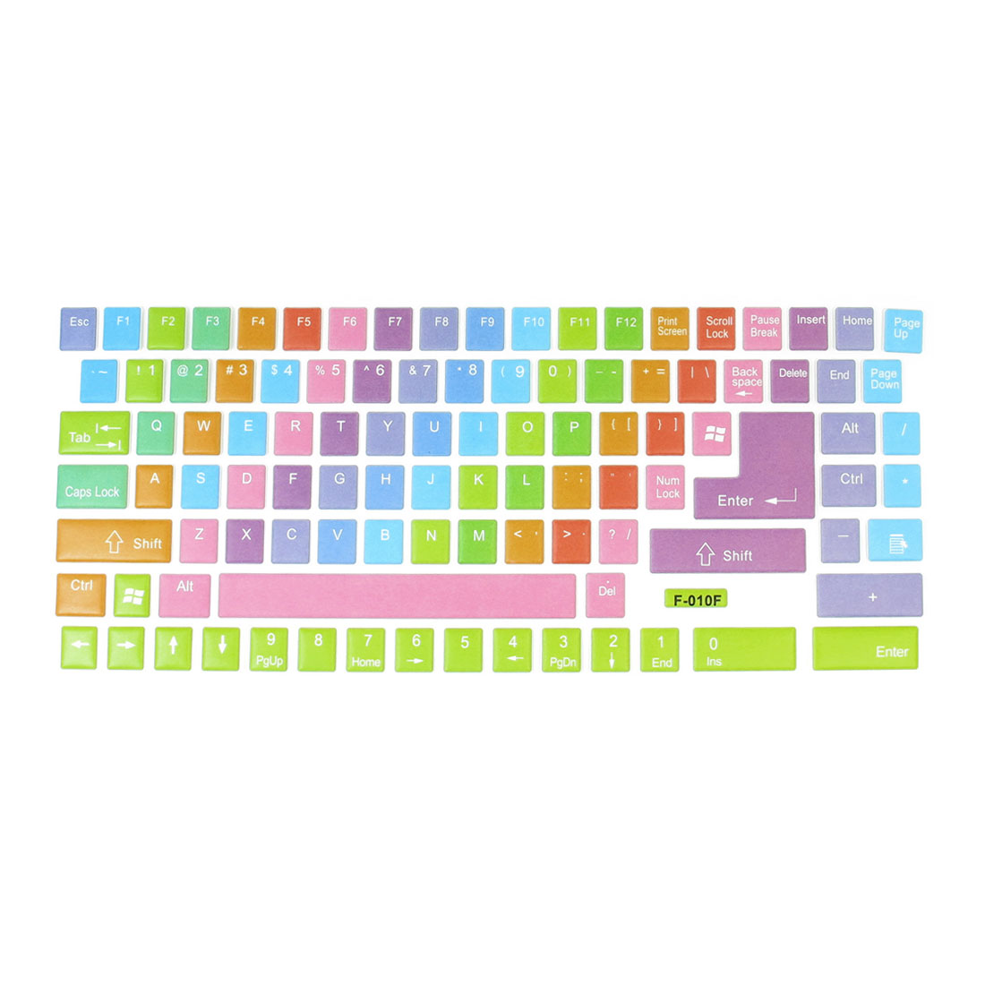 Laptop Colorful Indication Sign Pattern Soft Plastic Keyboard Stickers