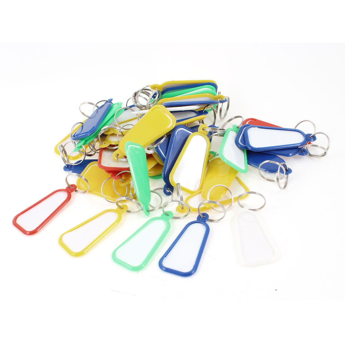 50 Pcs Colorful Fanshaped Pandent ID Key Labels Tags