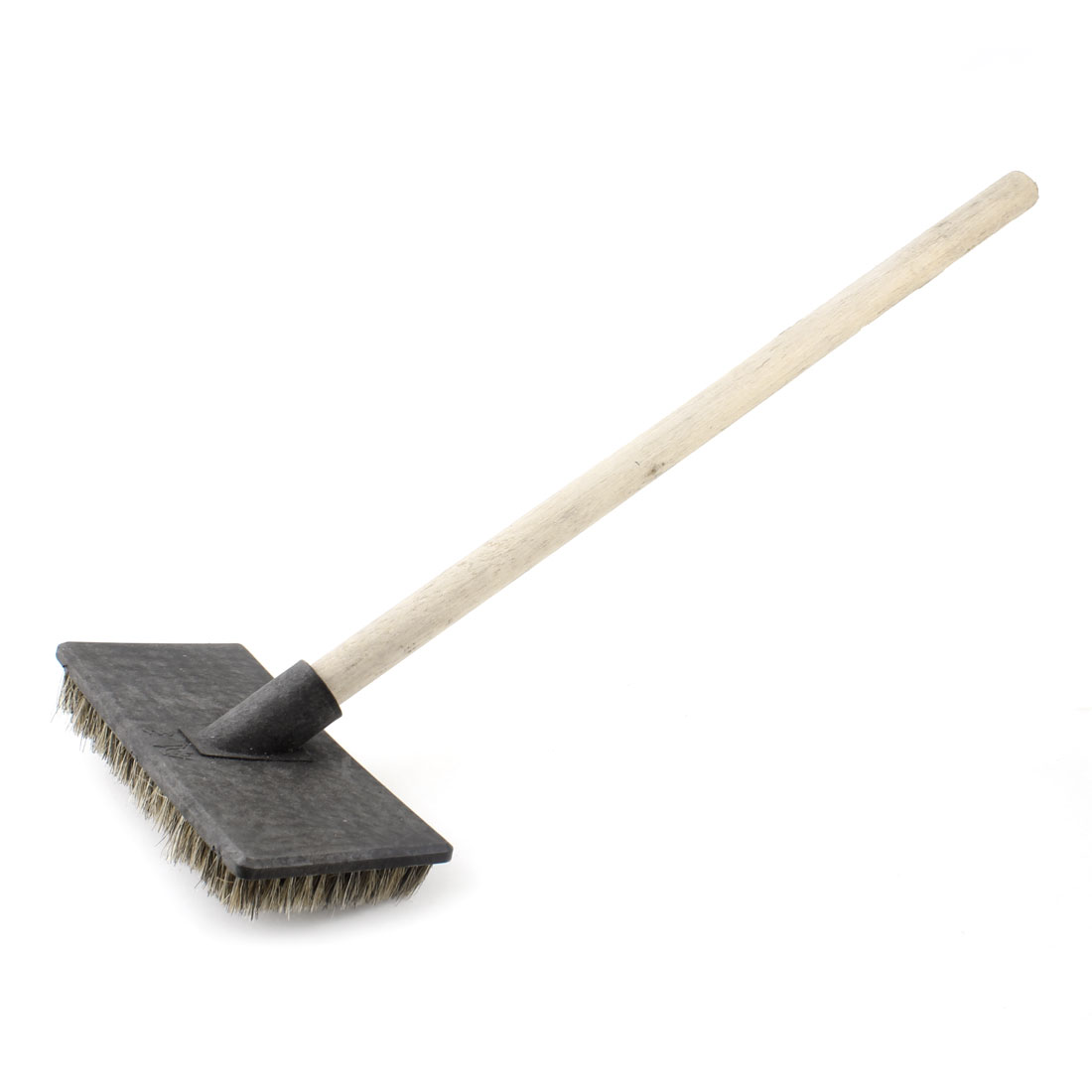 Wooden Grip Tile Bathroom Toilet Brush Cleaning Tool Brown Black