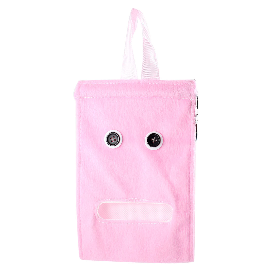 Washroom Bedroom Roll Paper Tissue Napkin Plush Dispenser Container Pink