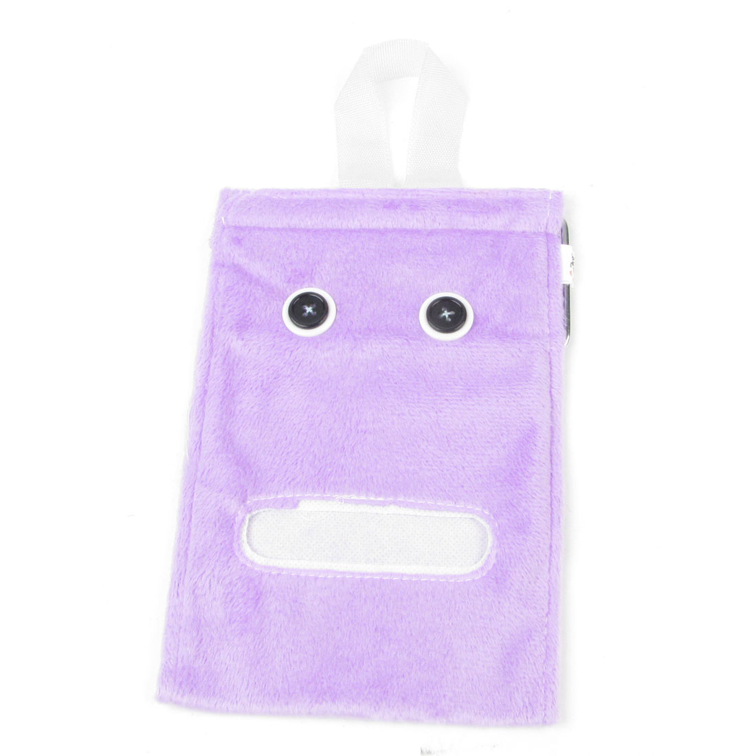 Washroom Toilet Roll Paper Towel Cover Tissue Plush Hanging Dispenser Purple