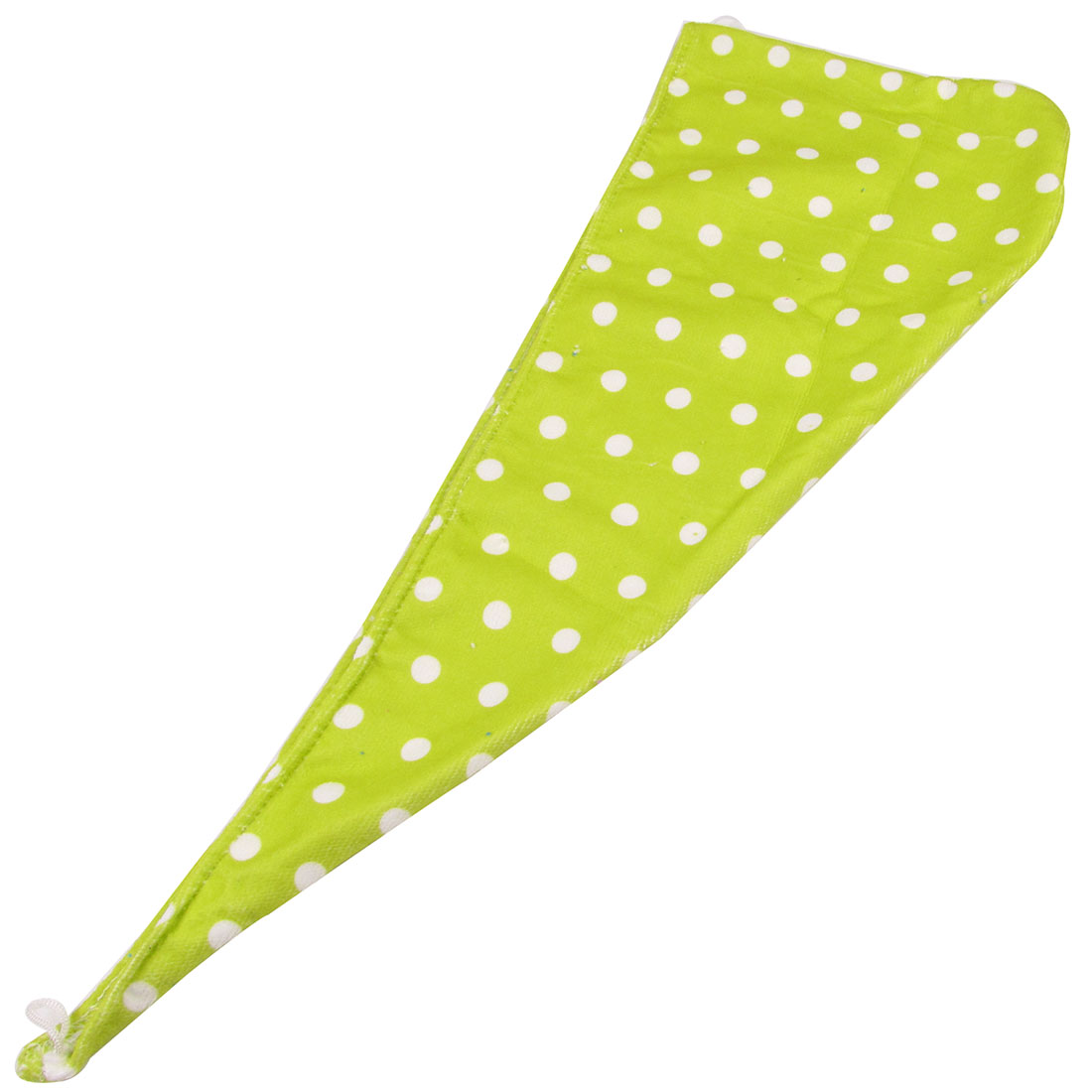 Dots Print Yellow Green Soft Microfiber Hair Drying Hat Show Cap for Ladies