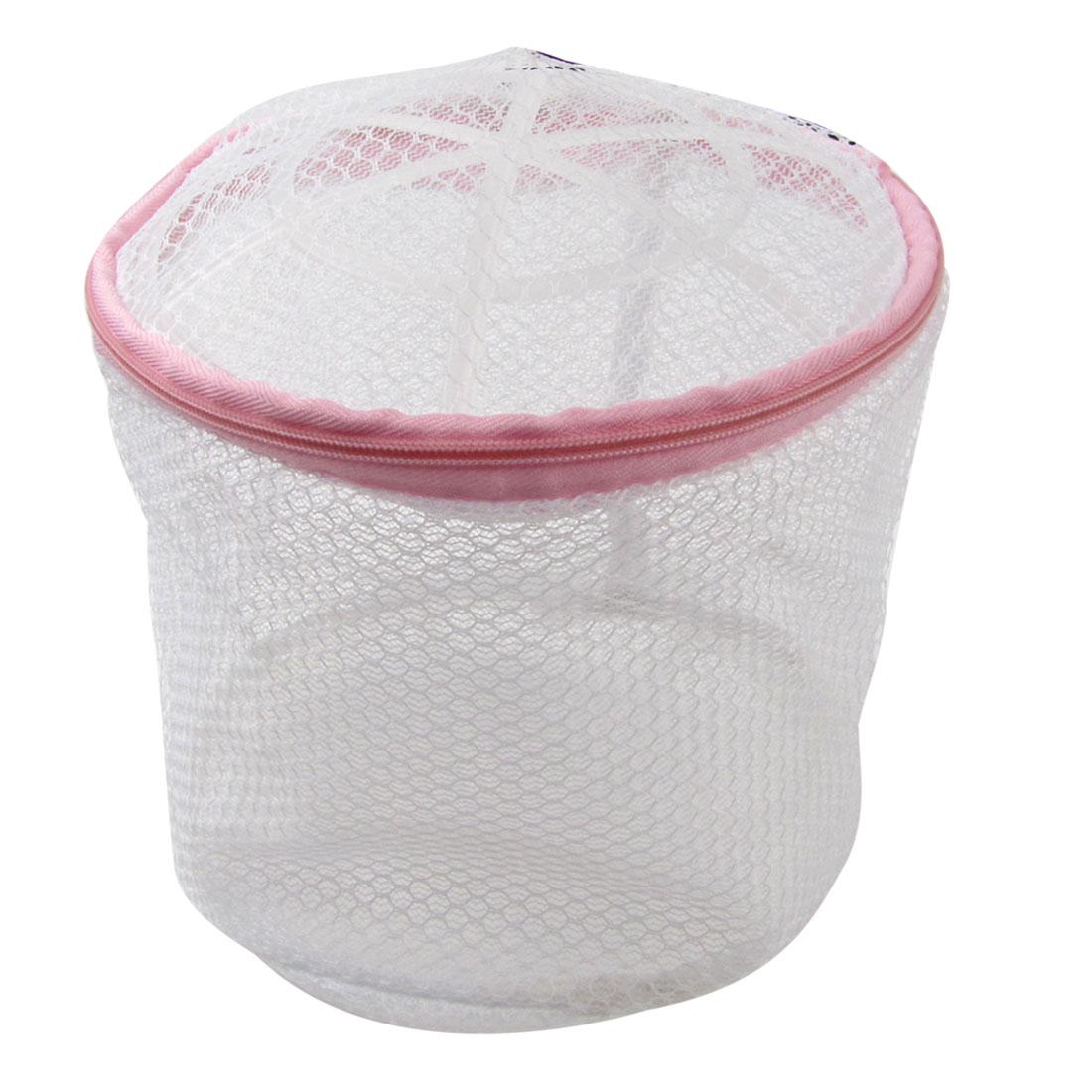 Bathroom Woman Lingerie Bra Plastic Frame Meshy Laundry Basket White