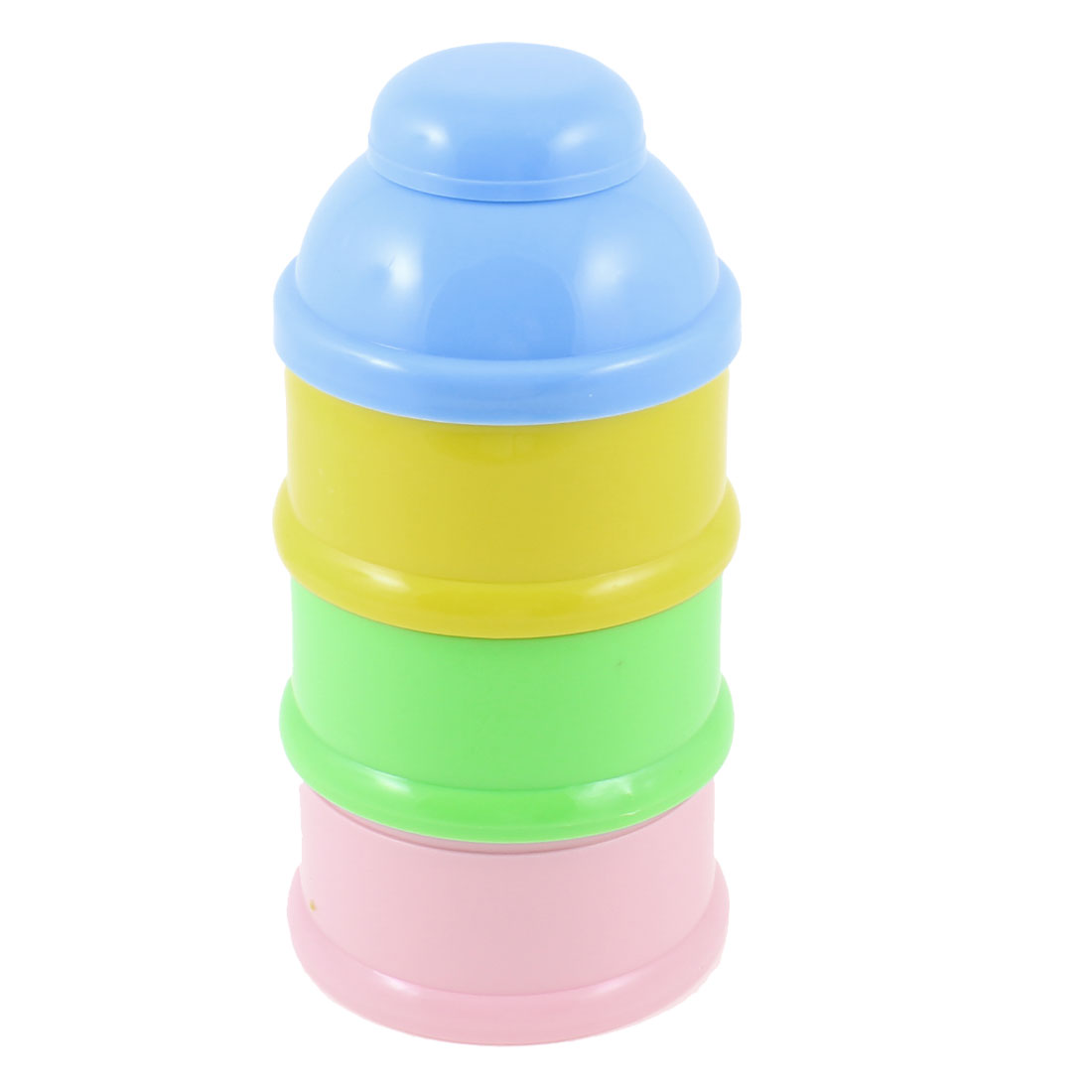 Blue Cover 3 Layers Bottle Shaped Baby Milk Powder Formula Container Case