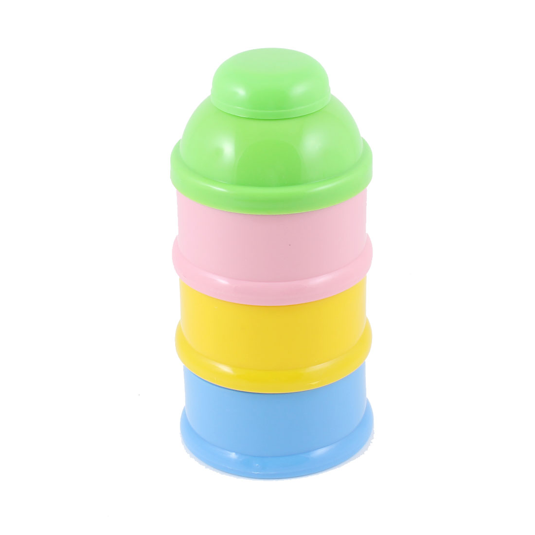 Lime Cover Plastic Bottle Shaped Babies Milk Powder Container 3 Tier