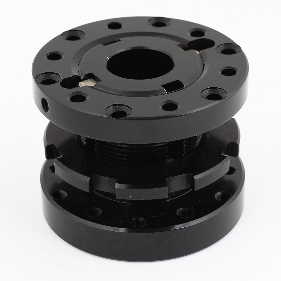 Universal Adjustable Steering Wheel Hub Adapter Spacer Black for Car