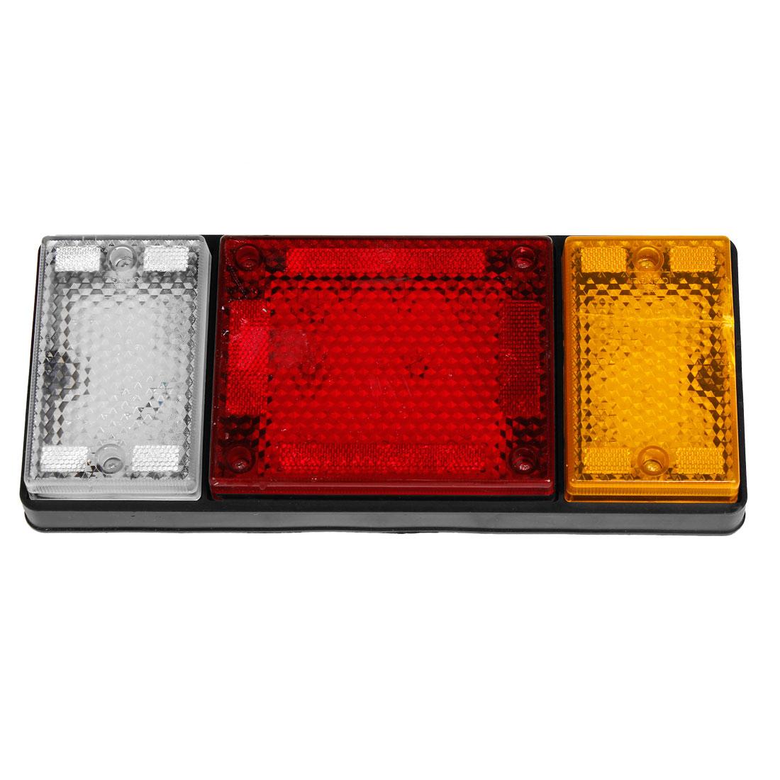 White Red Yellow LED Light Left Side Turn Rear Tail Lamp for Truck Trailer