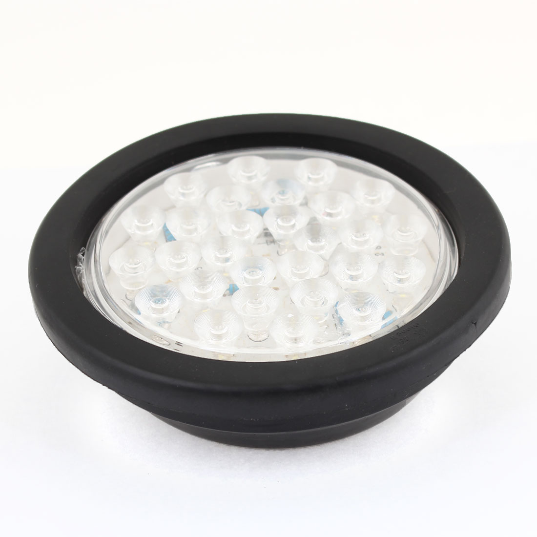 White 28 LED Round Shaped Plastic Lens Signal Tail Light for Truck