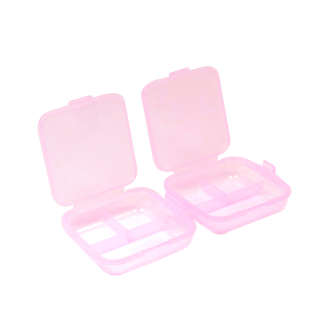 Travel Portable 6 Rooms Mini Vitamin Medicine Pill Box Organizer Pink
