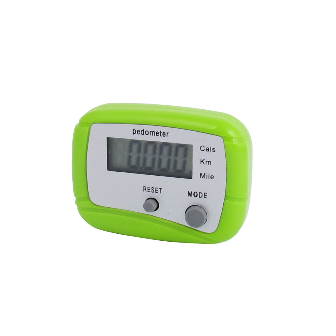 Mini Single Button Sport Electronic LCD Step Counter Passometer Pink Grey