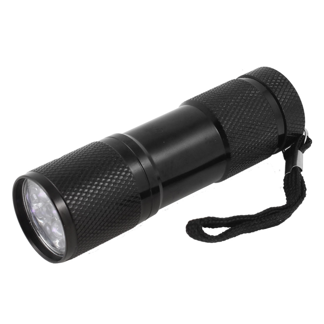 "Nonslip Handle Black Aluminum Alloy White LED Flashlight Mini Torch 3.5"" Length"