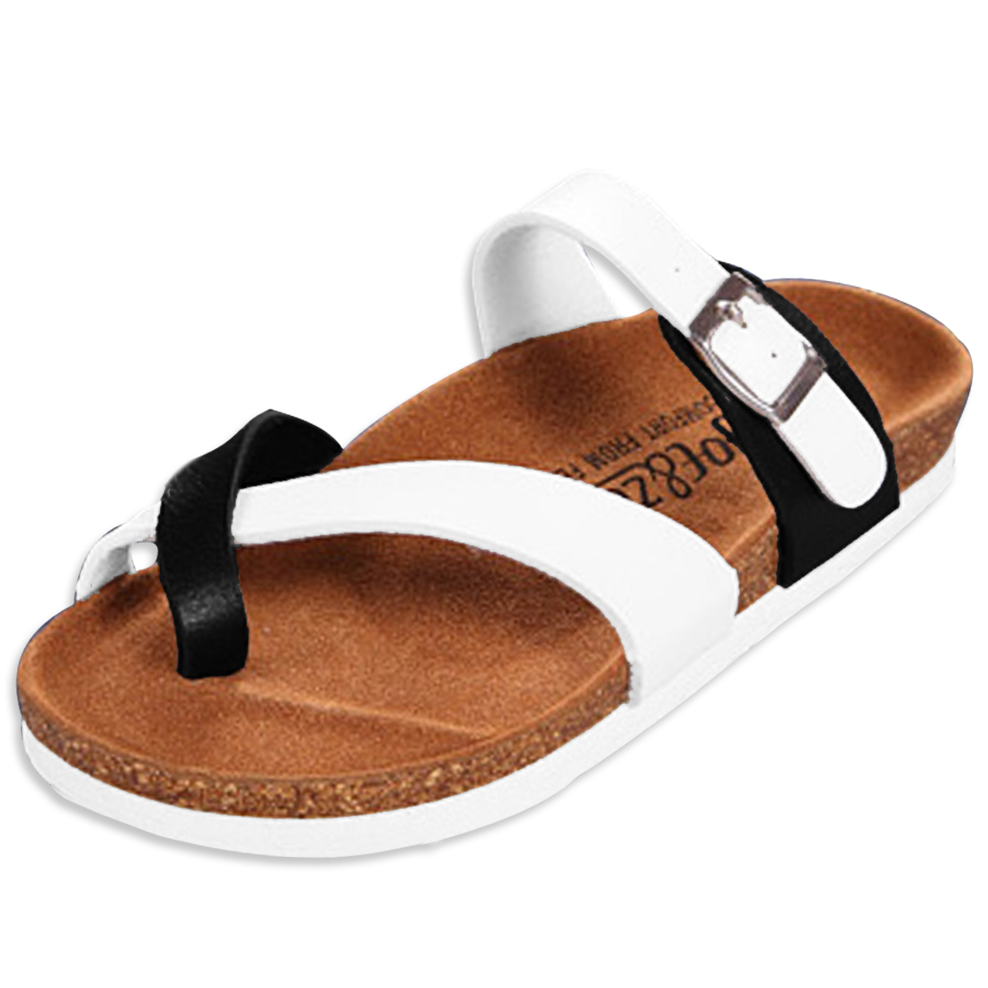 Holiday Unisex Black White Slide Sandals US 9