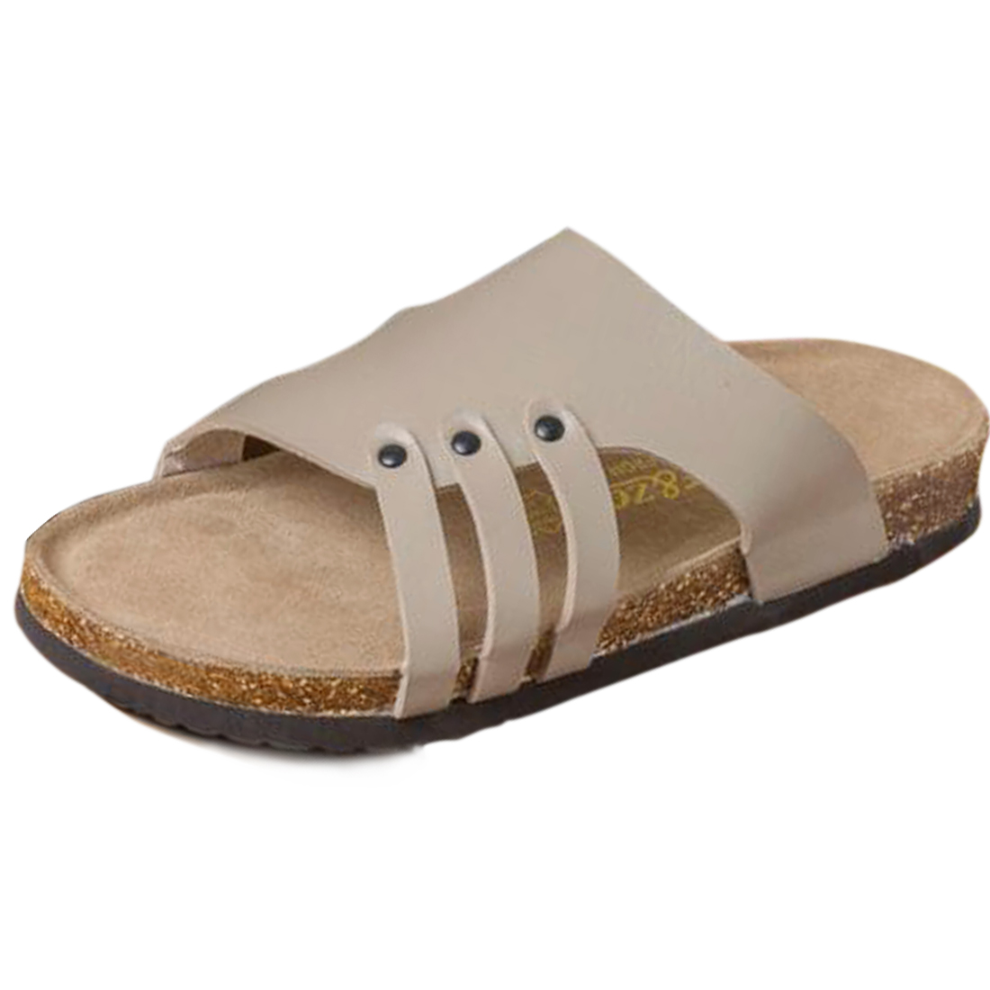 Classic Strap Style Durable Cool Sandal for Men Beige US Size 8