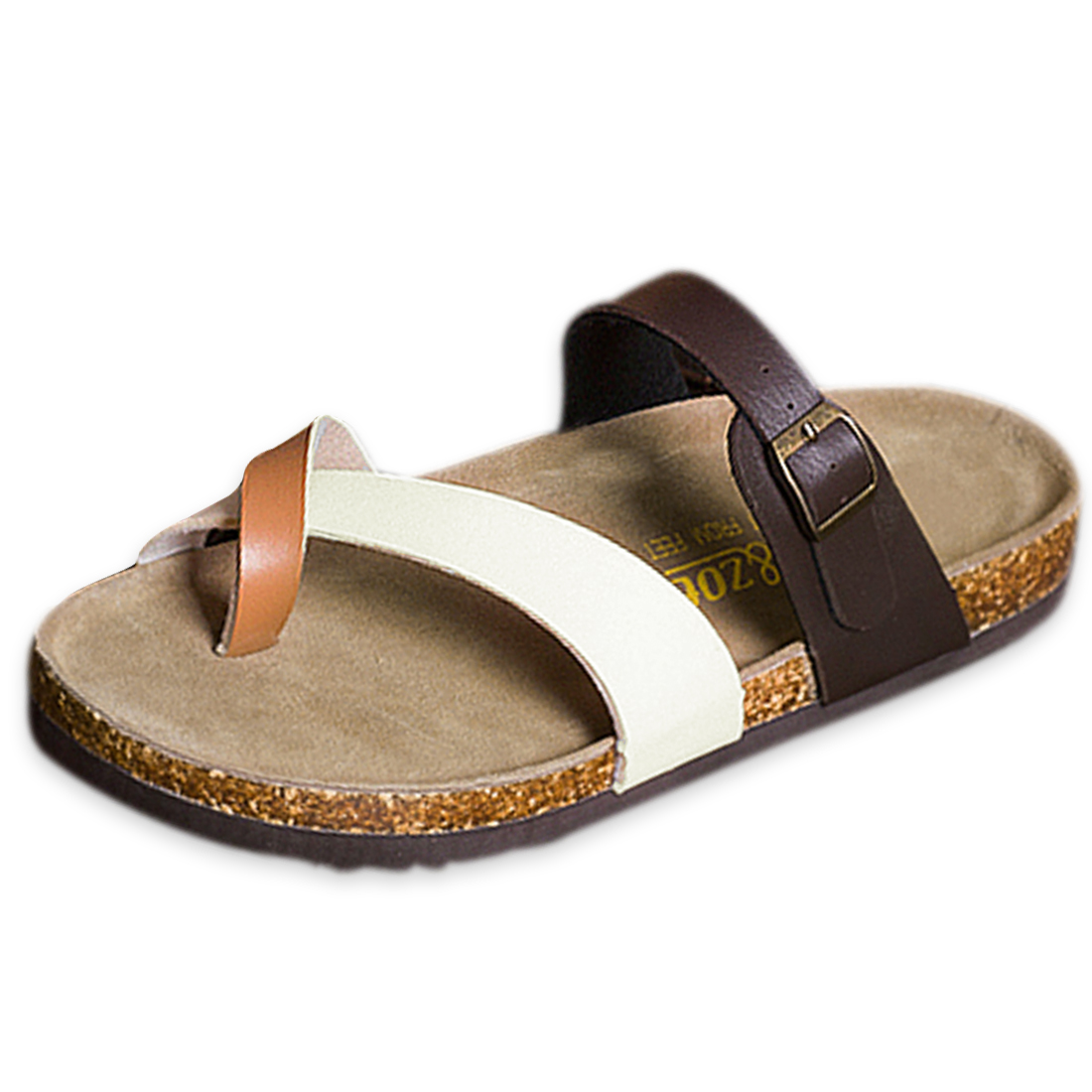 Stylish Two Strapes Flip Flop Sandal for Men Coffee US Size 10