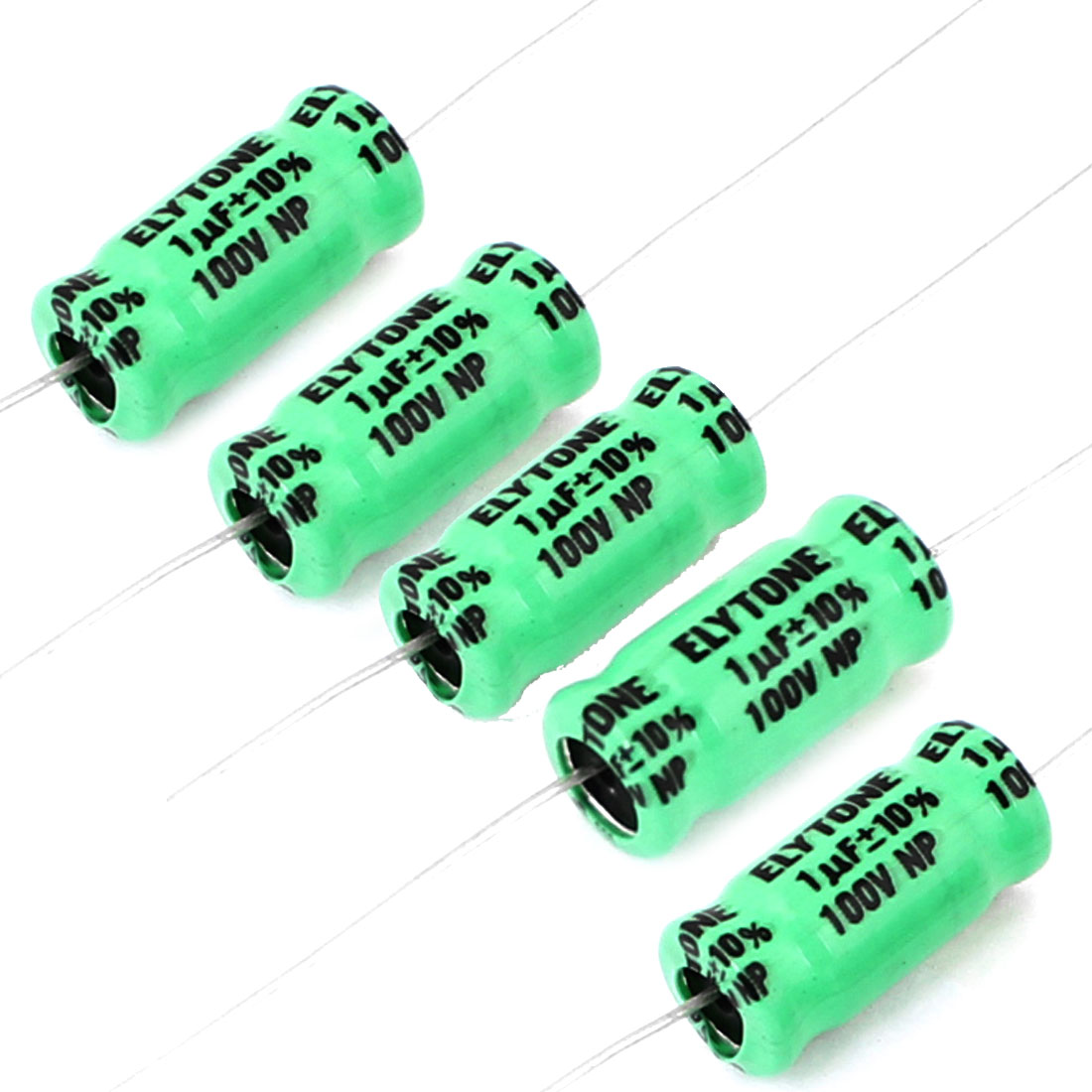 5 Pcs 8mmx17mm 1uF 100V 105C Polarized Radial Electrolytic Capacitor