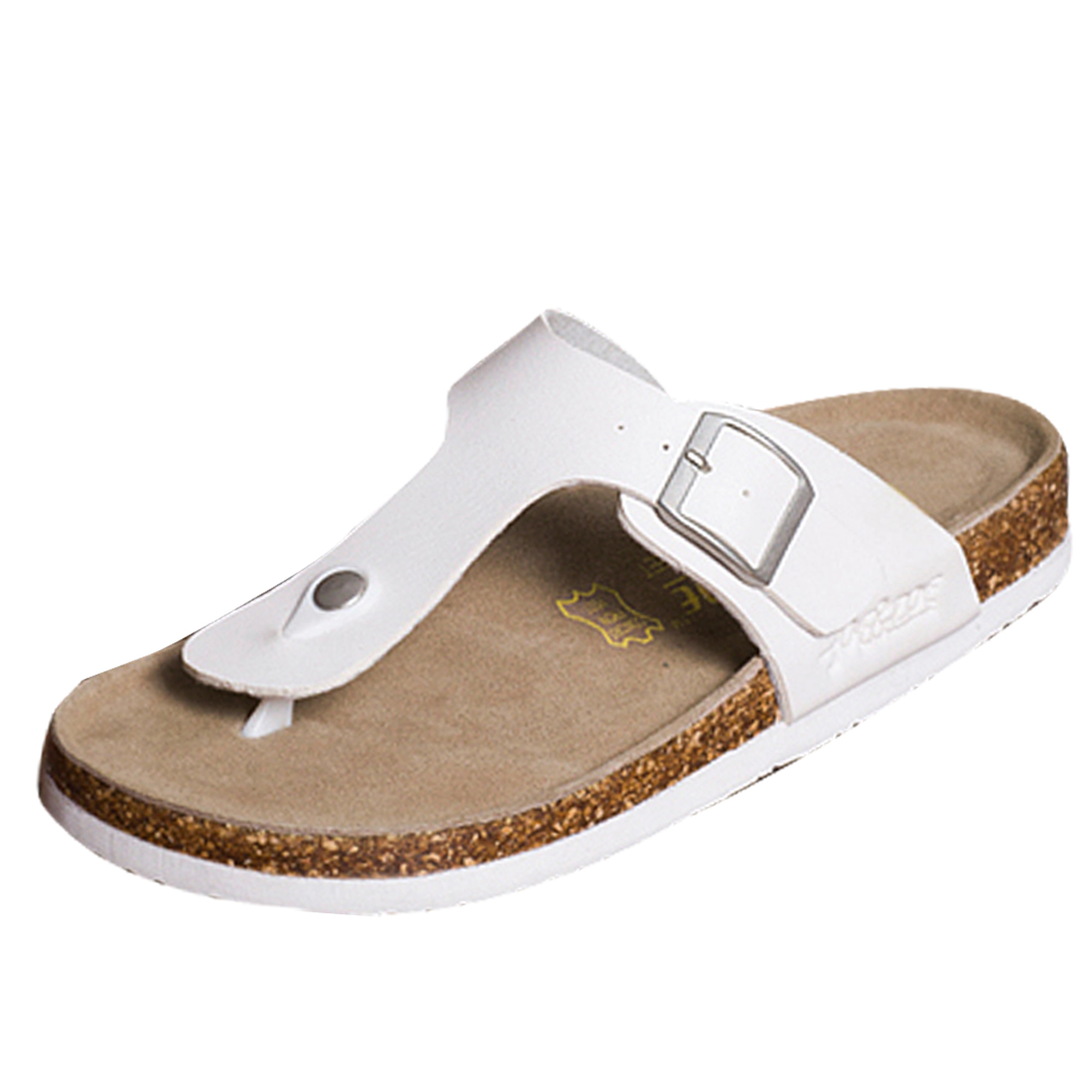 Men Beach Style Classic Strap Style Flip Flop White US Size 8
