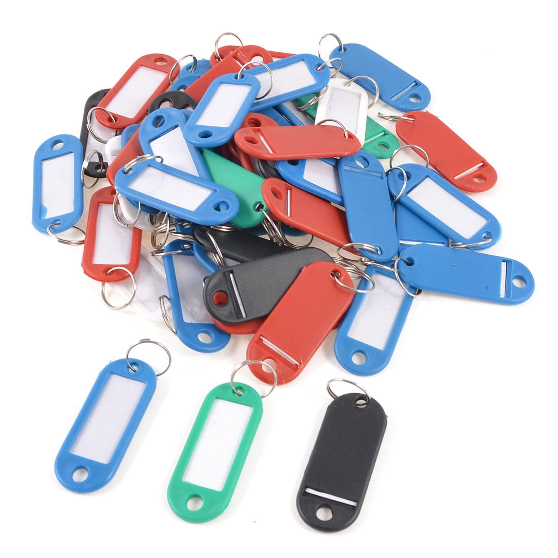 Multicolor Plastic Barber Salesman Name Tag Badge Clip Holder 50 Pcs
