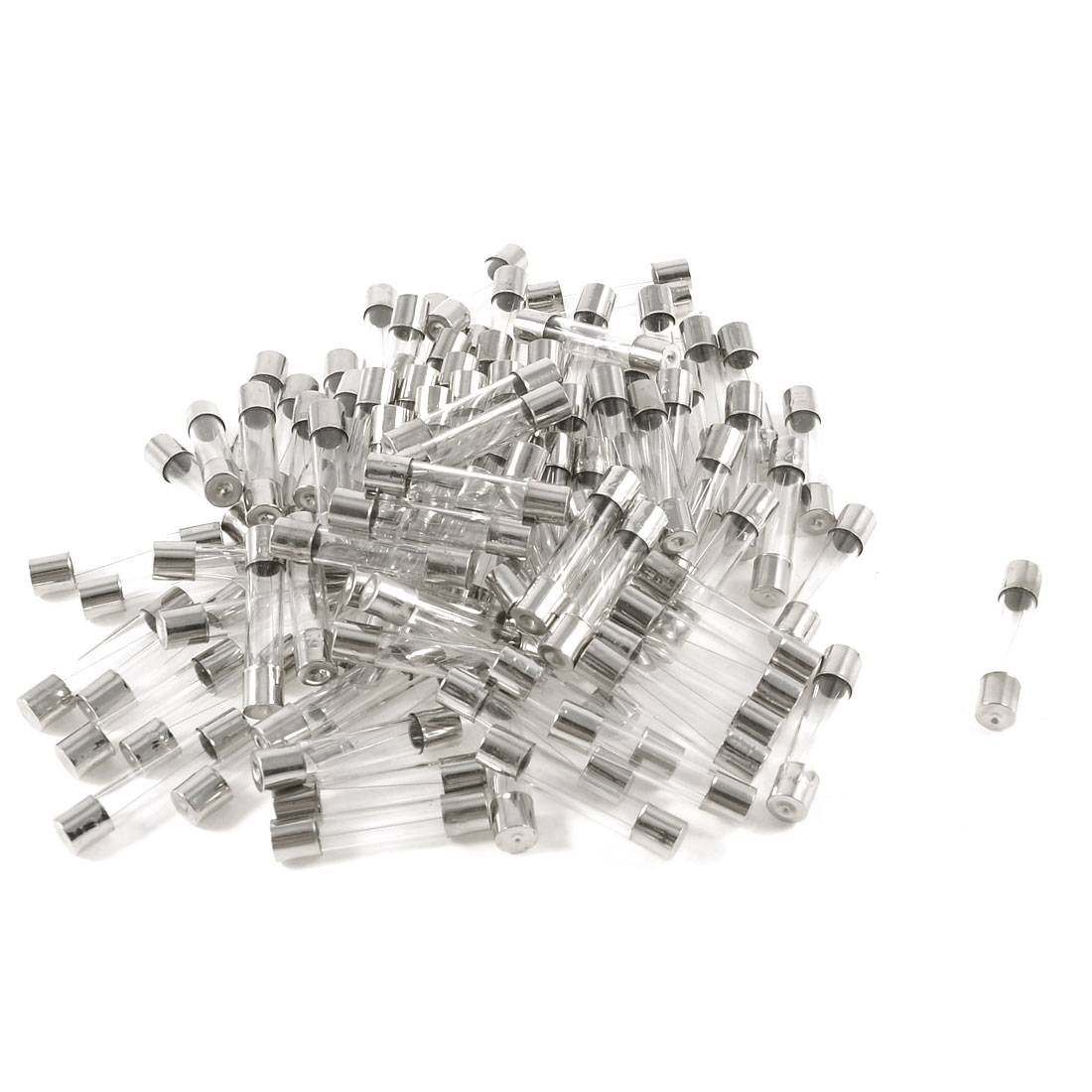 100 Pcs 6 x 30mm Fast Blow Type Glass Tube Fuses 1A 250V Replacement