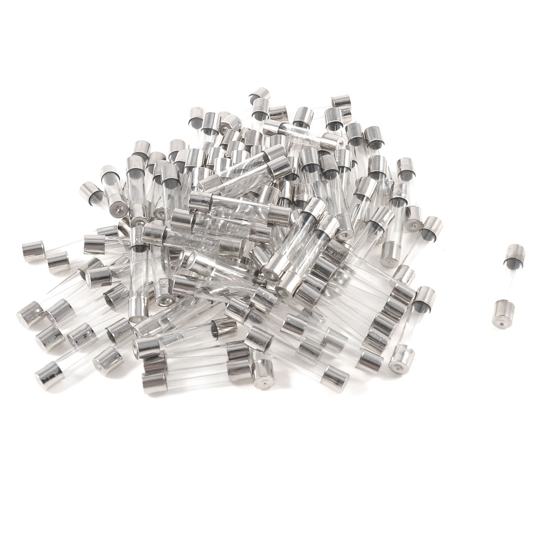 100pcs 6mm x 30mm Low Breaking Fast Blow Glass Tube Fuses 250V 2A