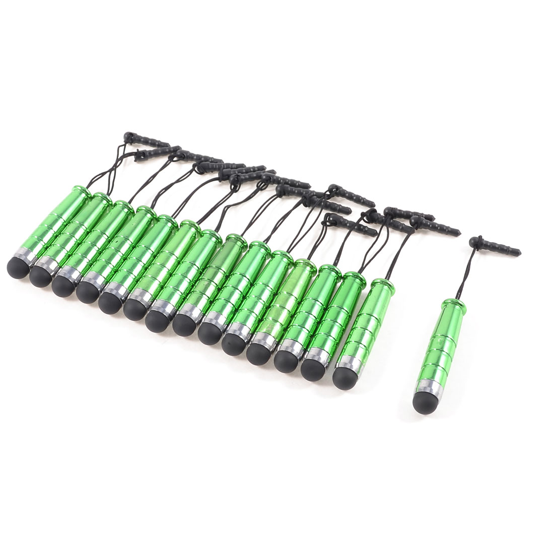 15 Pcs Anti Dust Capacitive Touch Screen Stylus Pen Green for Phone Tablet PC
