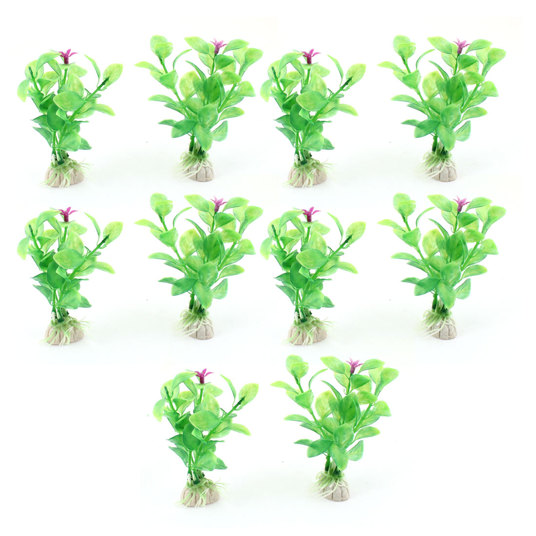 "10 Pcs 4.3"" Height Simulation Green Grass Plant Decor for Aquarium"