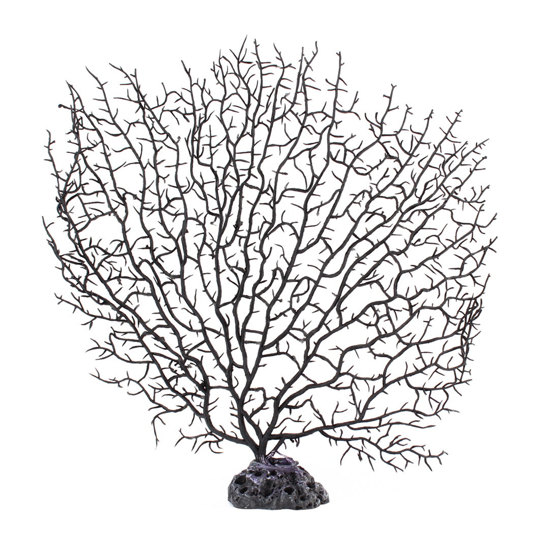 Net Shape Black Plastic Coral Decoration for Aquarium