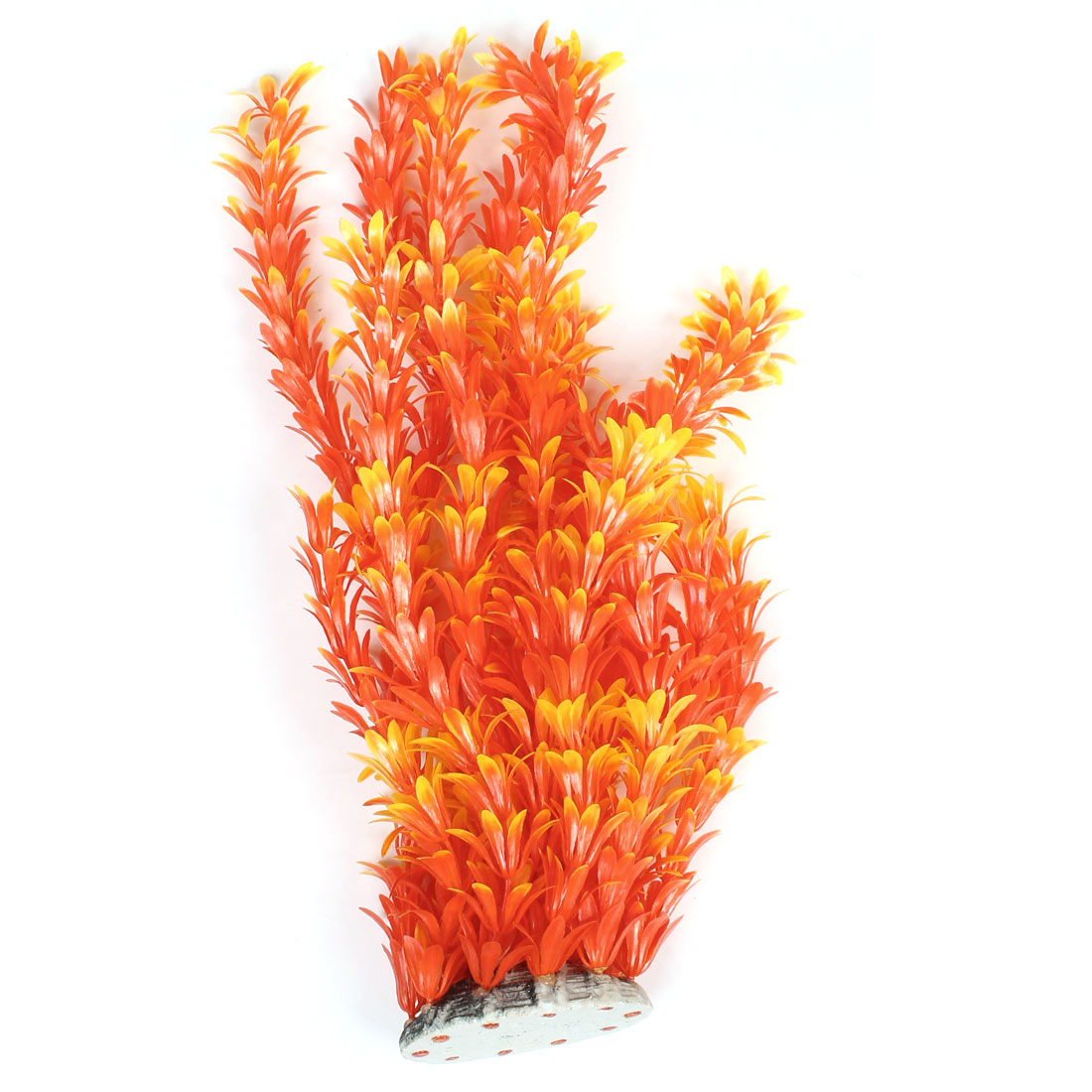 "Orange Red Yellow Emulational Underwater Plant Decor 15.7"" Height for Aquarium"