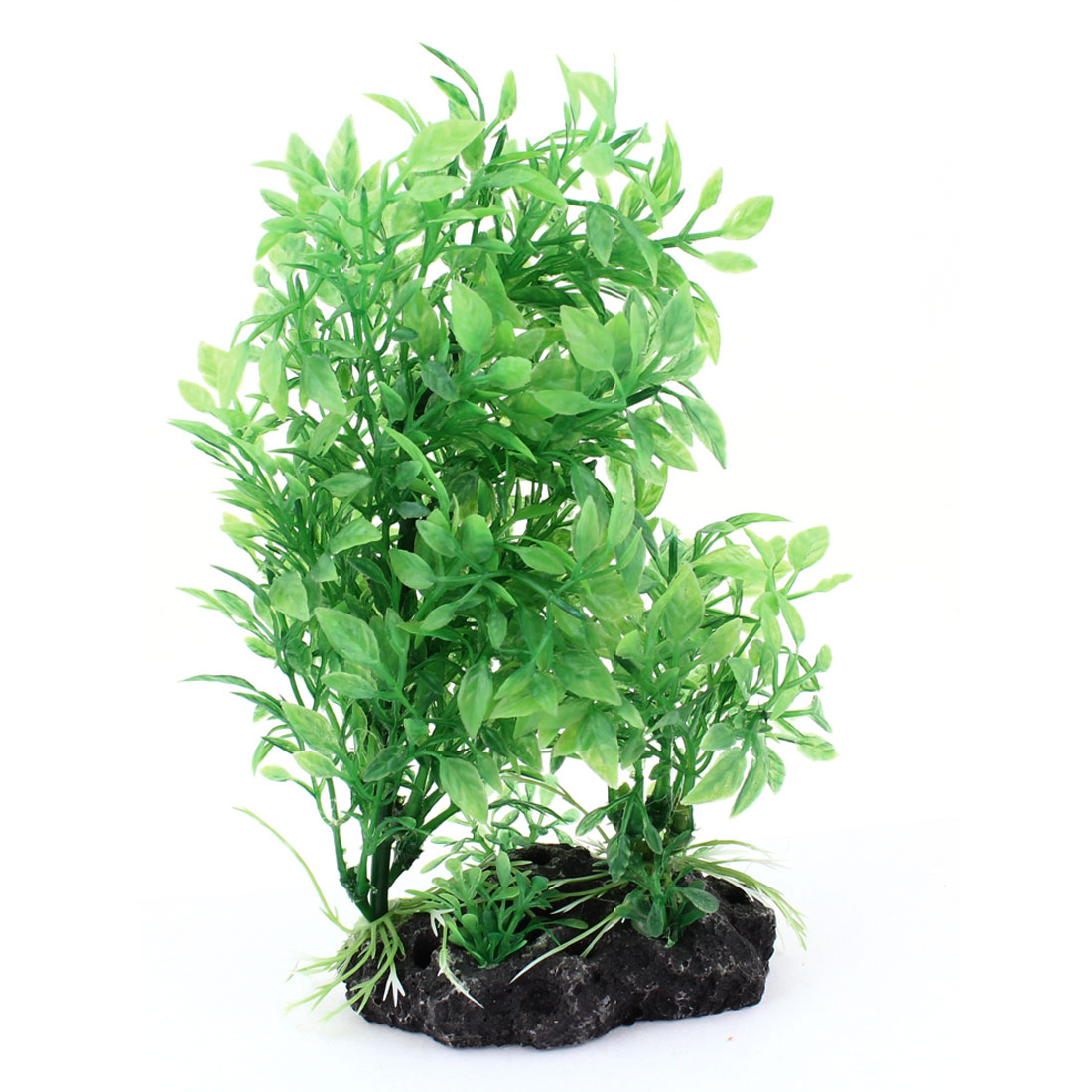 "8"" Height Green Plastic Simulation Aquatic Plant for Fish Tank"
